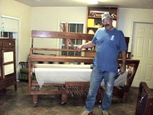 The adventures of Crazy John Hankins & the 8 foot loom